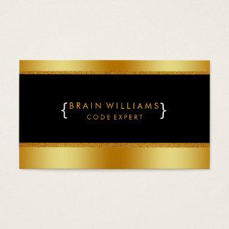 Gold Faux Foil Web Computer Professional Elegant Business Card