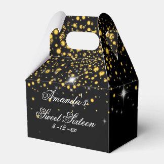 Gold, Faux Glitter, Elegant, Sweet Sixteen Favor Box