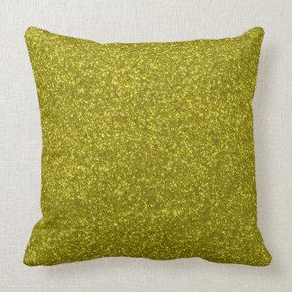 Gold Faux Glitter Girly Pillow
