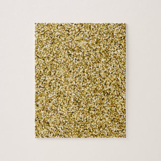 Gold Faux Glitter Jigsaw Puzzle