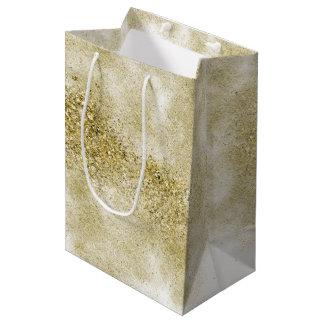 Gold Faux Glitter Medium Gift Bag