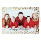 Gold Faux Glitter Ombre Bokeh Holidays Card