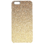 Gold Faux Glitter Ombre Clear iPhone 6 Plus Case