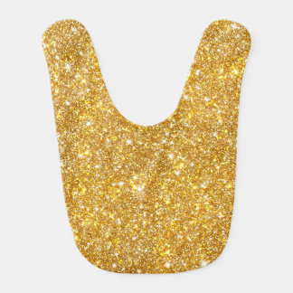 Gold Faux Glitter Pattern Girly Bling Bib