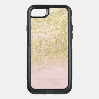 Gold Faux Glitter Pink Ombre OtterBox Commuter iPhone 7 Case