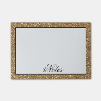 Gold Faux Glitter Post-it Notes