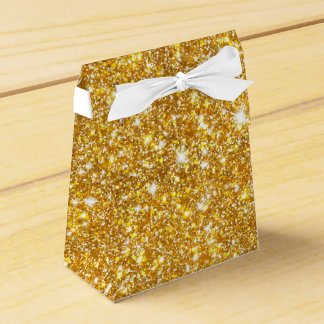 Gold Faux Glitter Sparkle Girly Favor Box