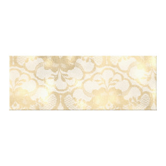 Gold Faux Sepia Royal Lace Canvas Print