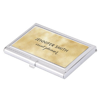 Gold Faux Shimmer Lights Business Card Holder