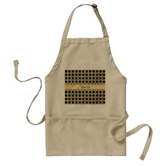 Gold Faux & Sparkly Black Glitter Spots Standard Apron