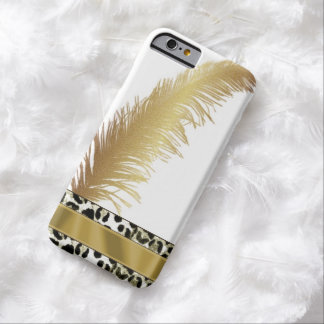 Gold Feather/Leopard Print IPhone 6 Case