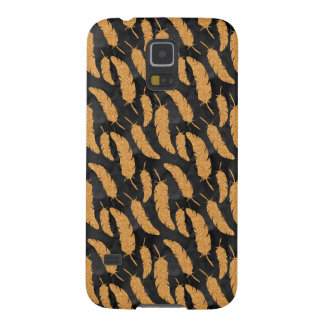 Gold Feathers Galaxy S5 Cover