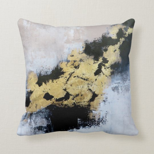 Gold Fields Throw Pillow