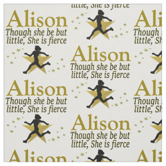 GOLD FIERCE RUNNER PERSONALIZED FABRIC