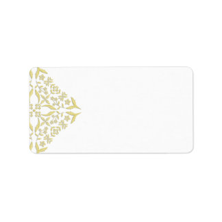 Gold Filigree Address Labels