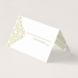 Gold Filigree Place Cards