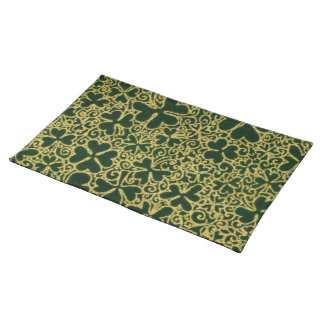Gold Filigree Shamrocks Placemat