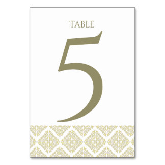Gold Filigree Table Card
