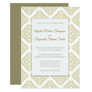 Gold Filigree Wedding Invitation