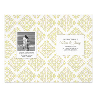 Gold Filigree Wedding Program Flyer