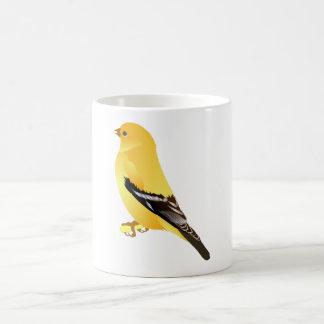 Gold Finch Classic White Coffee Mug