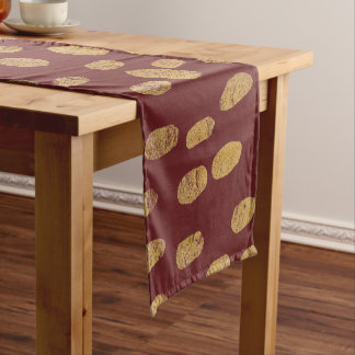 Gold Finger Prints Short Table Runner