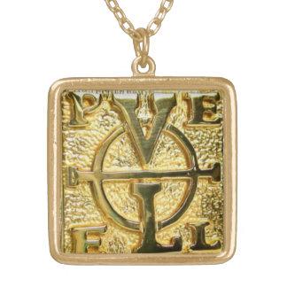 Gold Finish John Dee PELE Enochian Pendant Chain