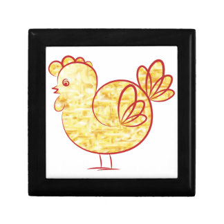 Gold fire Rooster. Gift Box