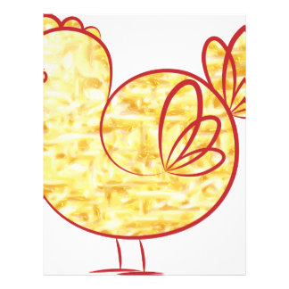 Gold fire Rooster. Letterhead