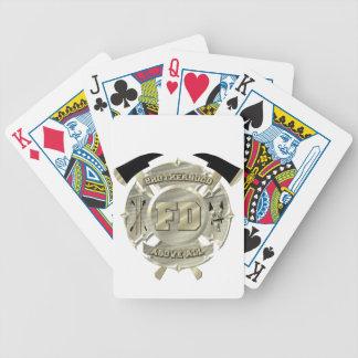 Gold Firefighter Brotherhood Symbol Poker Deck