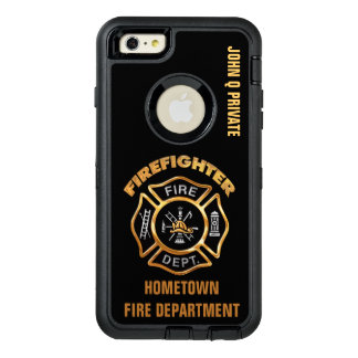 Gold Firefighter Name Template OtterBox iPhone 6/6s Plus Case