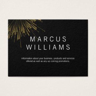 Gold Fireworks Business Card