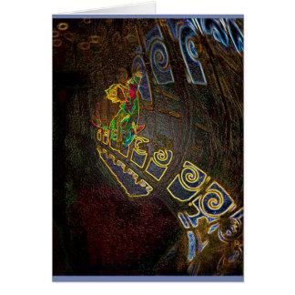 Gold Fish Abstract Card