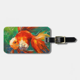 Gold fish bag tag