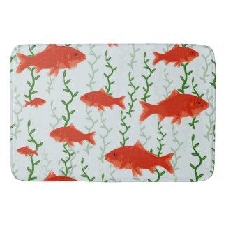 Gold Fish Bathroom Mat