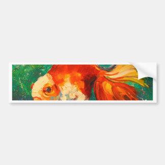 Gold fish bumper sticker