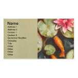 Gold Fish Koi Pond Water Lilies Double-Sided Standard Business Cards (Pack Of 100)
