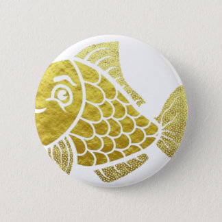 Gold Fish Life 2 Inch Round Button
