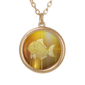 Gold Fish Life Gold Plated Necklace