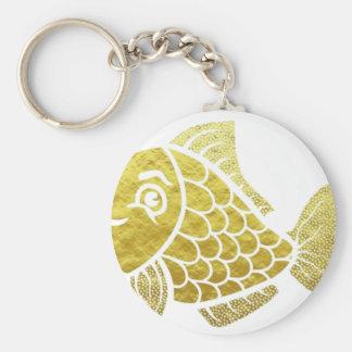 Gold Fish Life Keychain