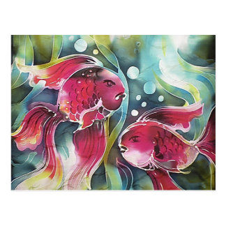Gold Fish Luminosity Postcard