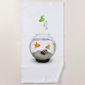 Gold Fish Outsider Beach Towel