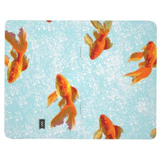 gold fish pattern journals