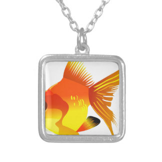 Gold Fish Silver Plated Necklace