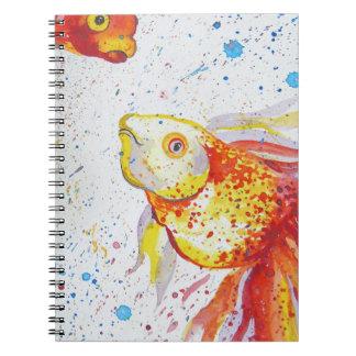 Gold fish spiral notebook