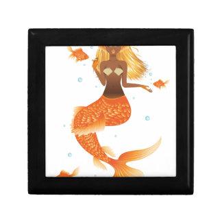 Gold Fish Tail Mermaid Gift Box
