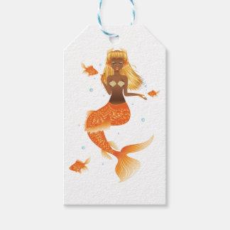 Gold Fish Tail Mermaid Gift Tags