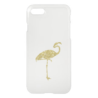 Gold Flamingo Faux Glitter Flamingos Tropical Bird iPhone 8/7 Case