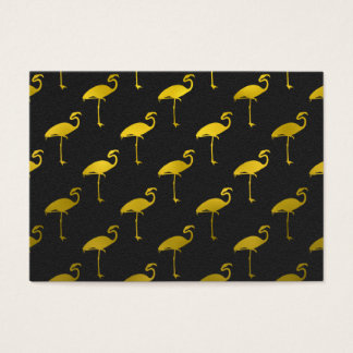 Gold Flamingo Faux Metallic Foil Tropical Flamingo Business Card