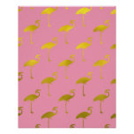 Gold Flamingo Faux Metallic Foil Tropical Flamingo Poster